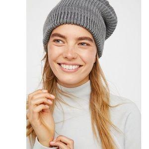 Free People grey knit hat